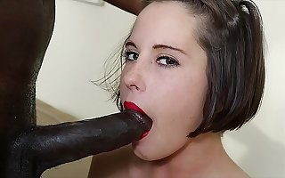 Can her ass take all this black horseshit and take it all deepthroat